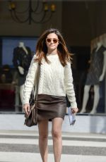 EMMY ROSSUM Out and About in Brentwood 11/04/2015