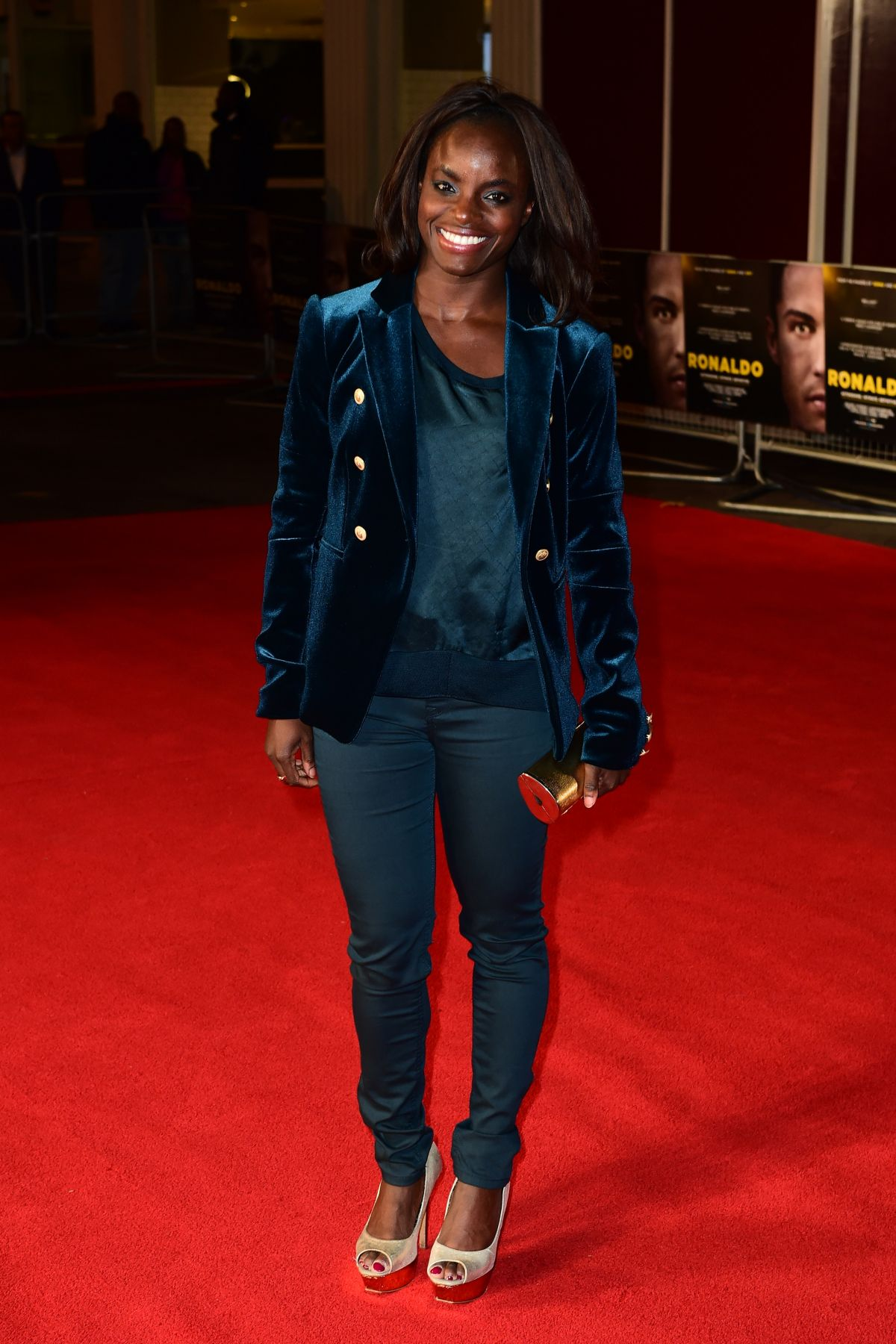 ENIOLA ALUKO at Ronaldo Premiere in London 11/09/2015