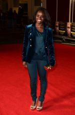 ENIOLA ALUKO at Ronaldo Premiere in London 11/09/2015