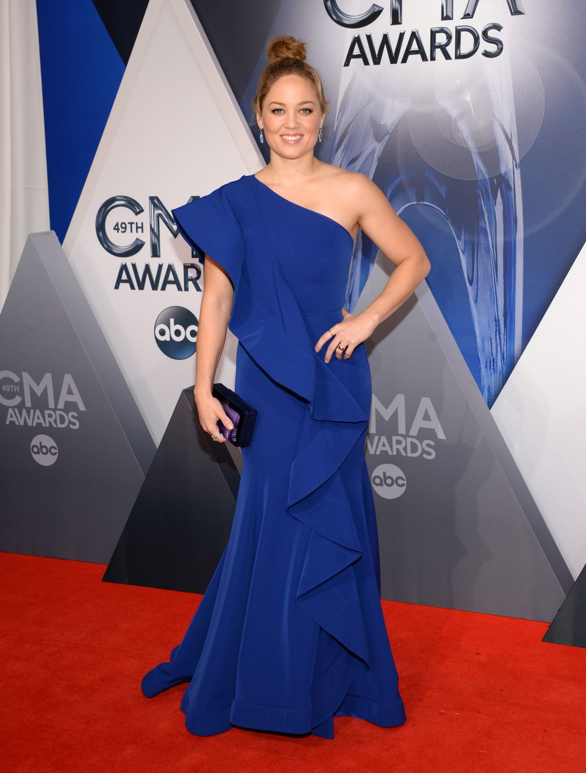 ERIKA CHRISTENSEN at 49th Annual CMA Awards in Nashville 11/04/2015