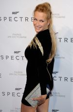 ESTELLE LEFEBURE at Spectre Premiere in Paris 10/29/2015