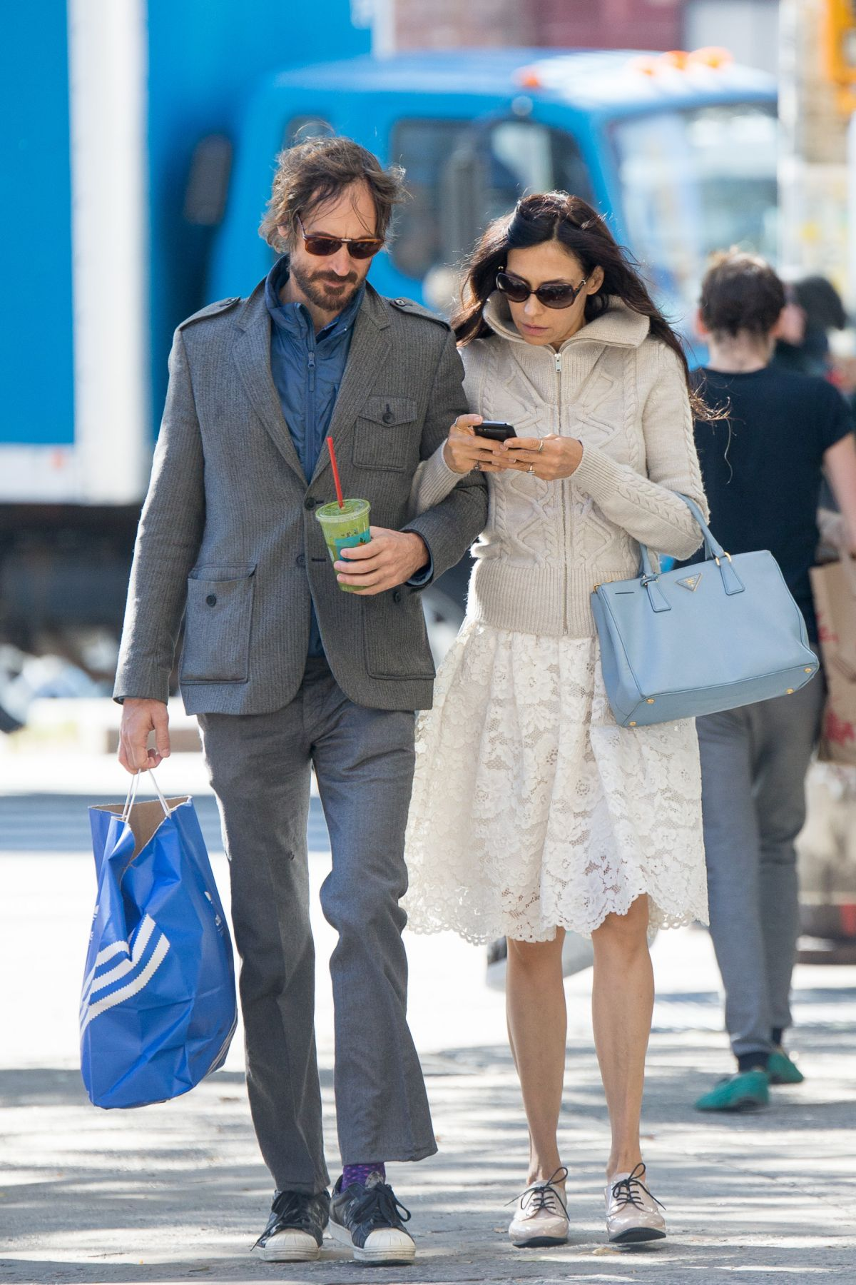 FAMKE JANSSEN out and About in New York 10/31/2015