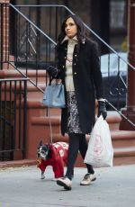 FAMKE JANSSEN Out and About in New York 11/25/2015