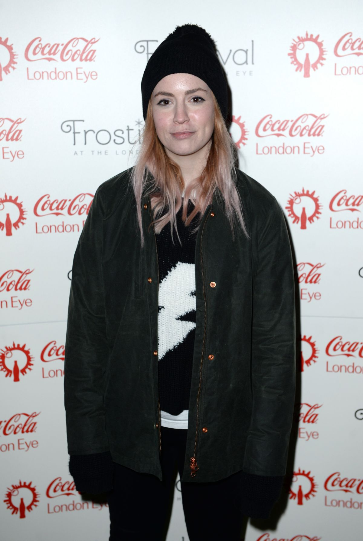 GEMMA STYLES at Coca Cola London Eye Frostival Eyeskate in London 11/18/2015