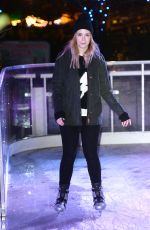 GEMMA STYLES at Coca Cola London Eye Frostival Eyeskate in London 11/18/2015