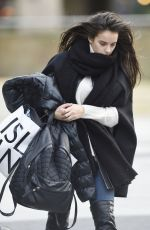 GEORGIA MAY FOOTE Leaves a Studio in Manchester 11/25/2015