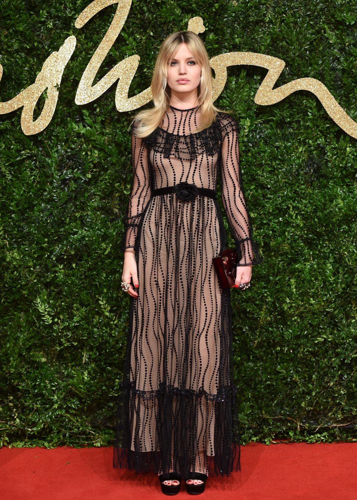 GEORGIA MAY JAGGER at 2015 British Fashion Awards in London 11/23/2015