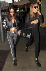 GIGI and BELLA HADID Out for Lunch at Il Pastaio in Beverly Hills 11/25/2015
