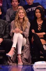 GIGI HADID at a Basketball Game in New York 11/09/2015