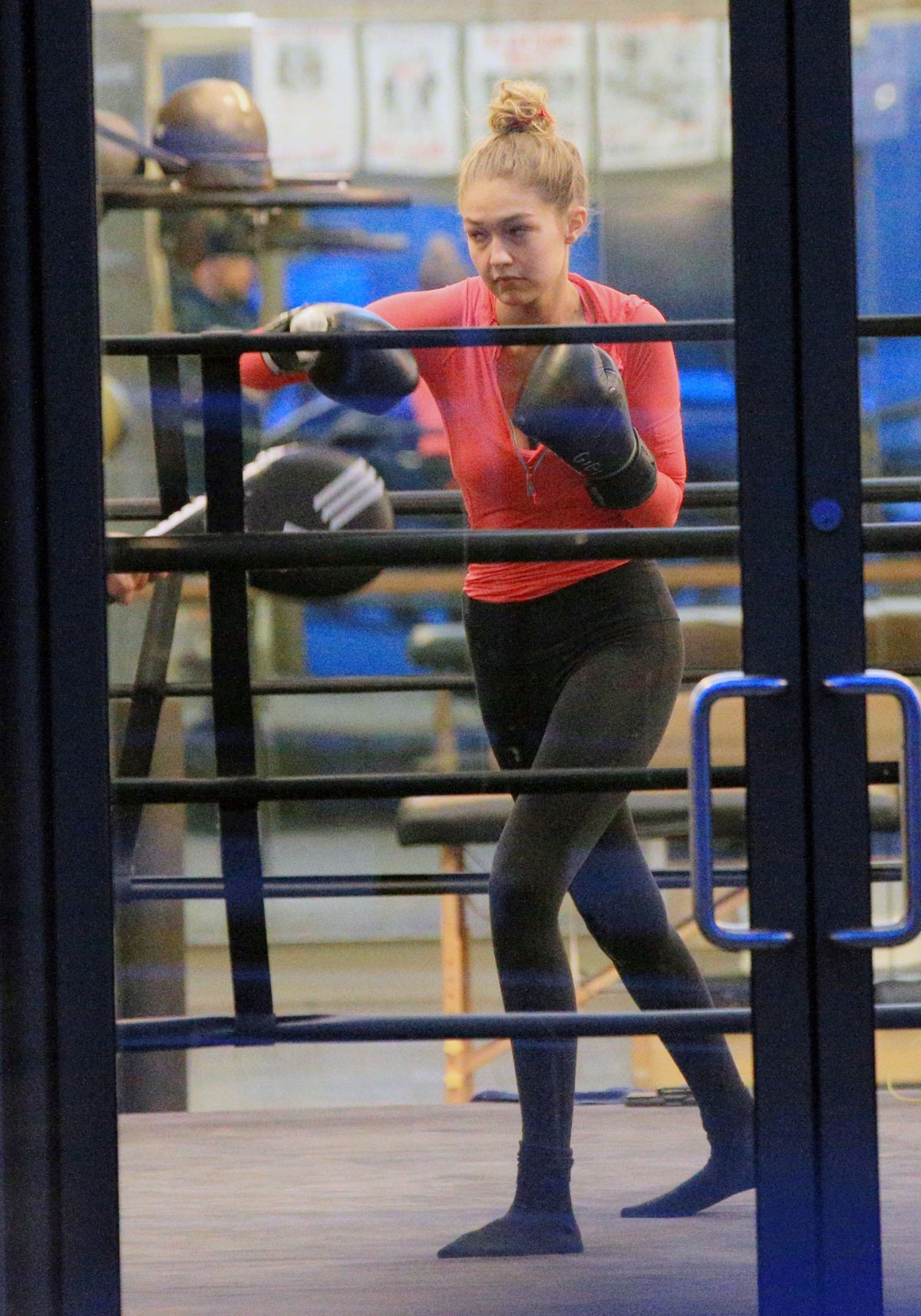 GIGI HADID at Boxing Class in New York 11/01/2015