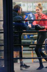 GIGI HADID at Boxing Class in New York 11/01/2015