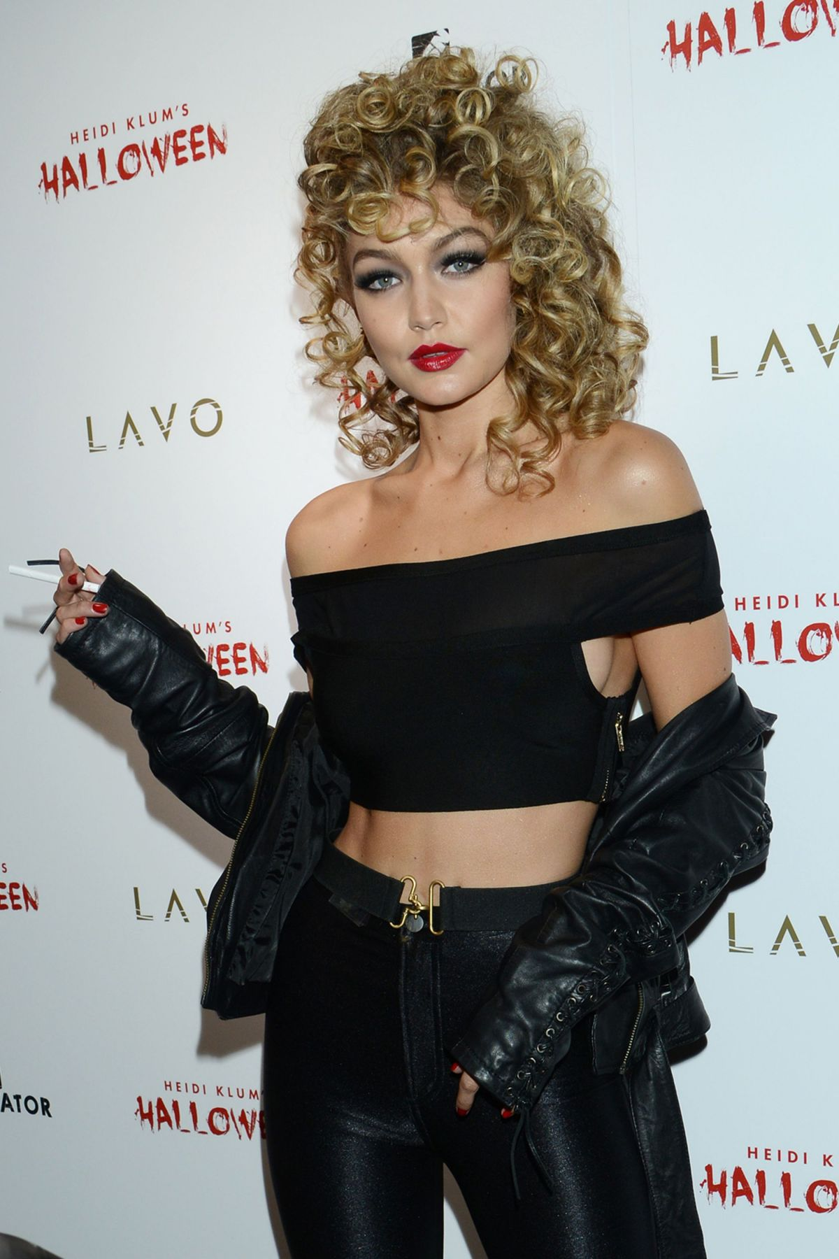 GIGI HADID at Heidi Klum Halloween Party in New York 10/31/2015