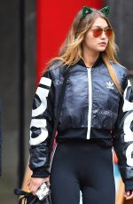 GIGI HADID Out and About in New York 10/31/2015