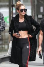 GIGI HADID Out and About in New York 11/06/2015