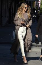 GIGI HADID Out and About in New York 11/08/2015