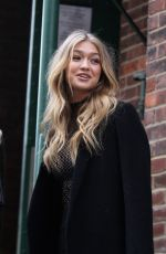 GIGI HADID Out and About in New York 11/09/2015