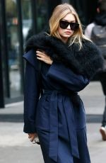 GIGI HADID Out and About in New York 11/12/2015