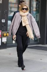 GIGI HADID Out and About in New York 11/13/2015