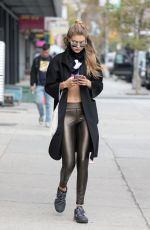 GIGI HADID Out in New York 11/02/2015