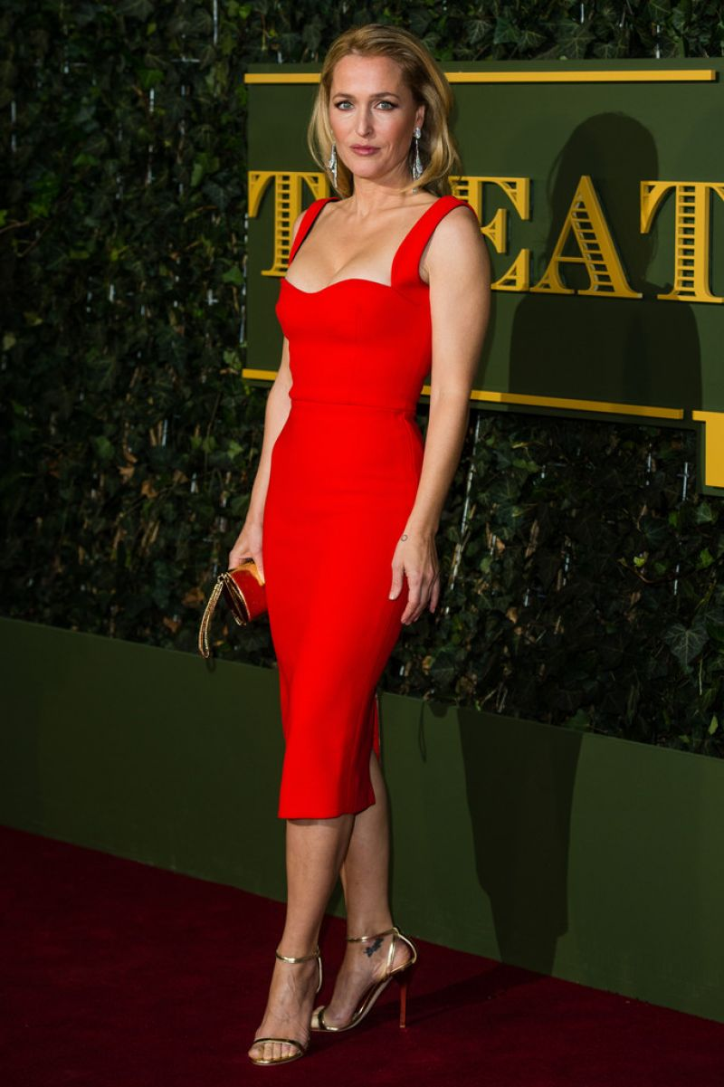 GILLIAN ANDERSON at Evening Standard Theatre Awards in London 11/22/2015
