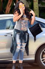 GINA RODRIGUEZ in Ripped Jeans Out in West Hollywood 11/05/2015