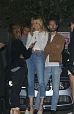 HAILEY BALDWIN Arrives at Hyde Nightclub in Los Angeles 11/21/2015