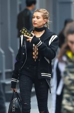 HAILEY BALDWIN Out and About in New York 11/18/2015
