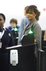HALLE BERRY Arrives at JFK Airport in New York 11/19/2015