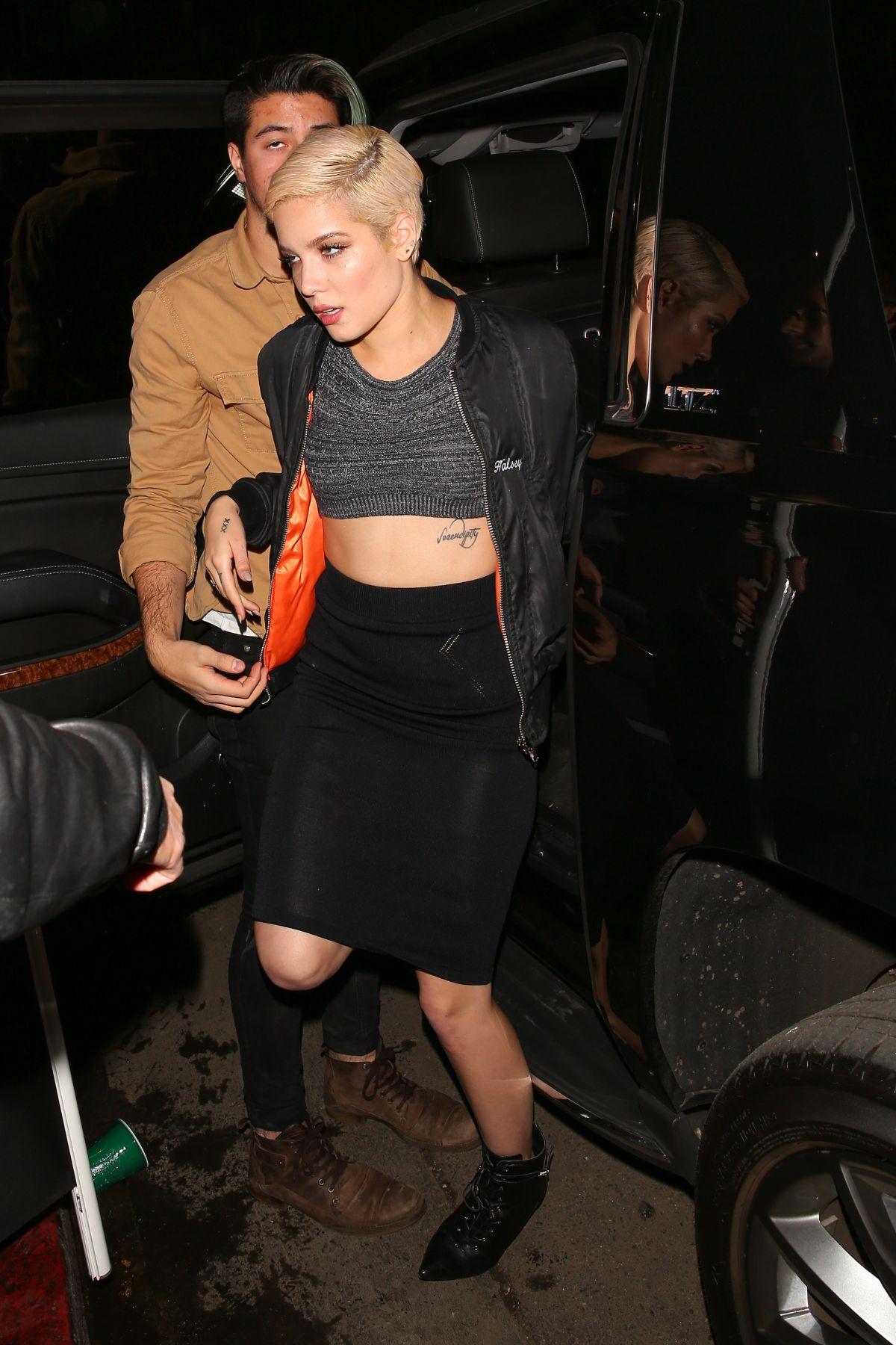 HALSEY Arrives at Justin Bieber