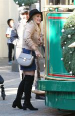 HILARY DUFF at The Grove in Los Angeles 11/27/2015