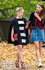 HILARY DUFF on the Set of Younger in New York 11/07/2015