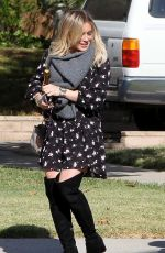 HILARY DUFF Out and About in Los Angeles 11/26/2015