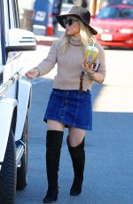 HILARY DUFF Out for Cofee in Los Angeles 11/27/2015