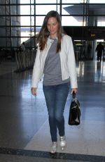HILARY SWANK at LAX Airport in Los Angeles 11/10/2015