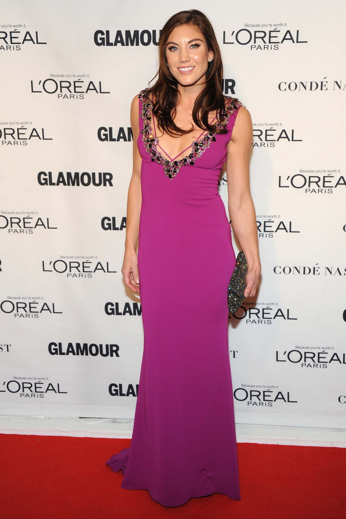 HOPE SOLO at Glamour's 25th Anniversary Women of the Year Awards in New York 11/09/2015