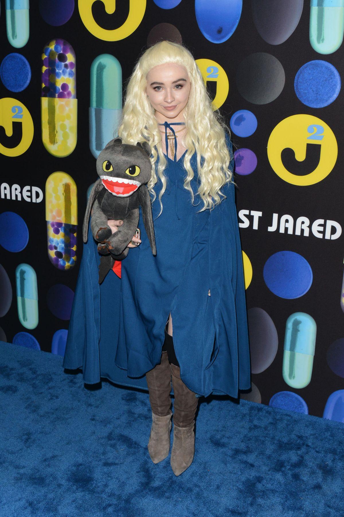 SABRINA CARPENTER at Just Jared Halloween Party in Hollywood 10/31 ...