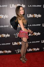 COURTNEY SIXX at Life & Style Eye Candy Halloween Bash 10/30/2015