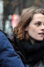 KRISTEN STEWART as Maureen on the Set of Personal Shopper in Paris 11/04/2015