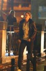 KRISTEN STEWART on the Evening Set of Personal Shopper in Paris 11/06/2015