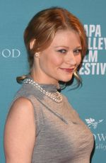 EMILIE DE RAVIN at 2015 Napa Valley Film Festival Gala in Yountville 11/12/2015