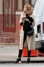 EMMA STONE Out and About in West Village 11/12/2015