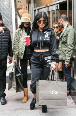 KYLIE and KENDALL JENNER Leaves Ugg Flagship Store in New York 11/11/2015