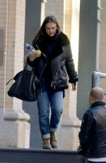 KEIRA KNIGHTLEY Leaves Her Apartment in New York 11/14/2015