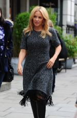 KYLIE MINOGUE Out and About in London 10/30/2015