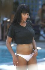 JACKIE CRUZ in Bikini at a Pool in Miami Beach 11/08/2015
