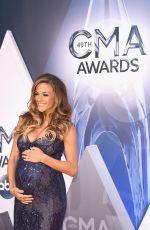 JANA KRAMER at 49th Annual CMA Awards in Nashville 11/04/2015