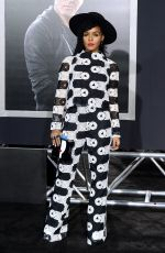 JANELLE MONAE at Creed Premiere in Westwood 11/19/2015