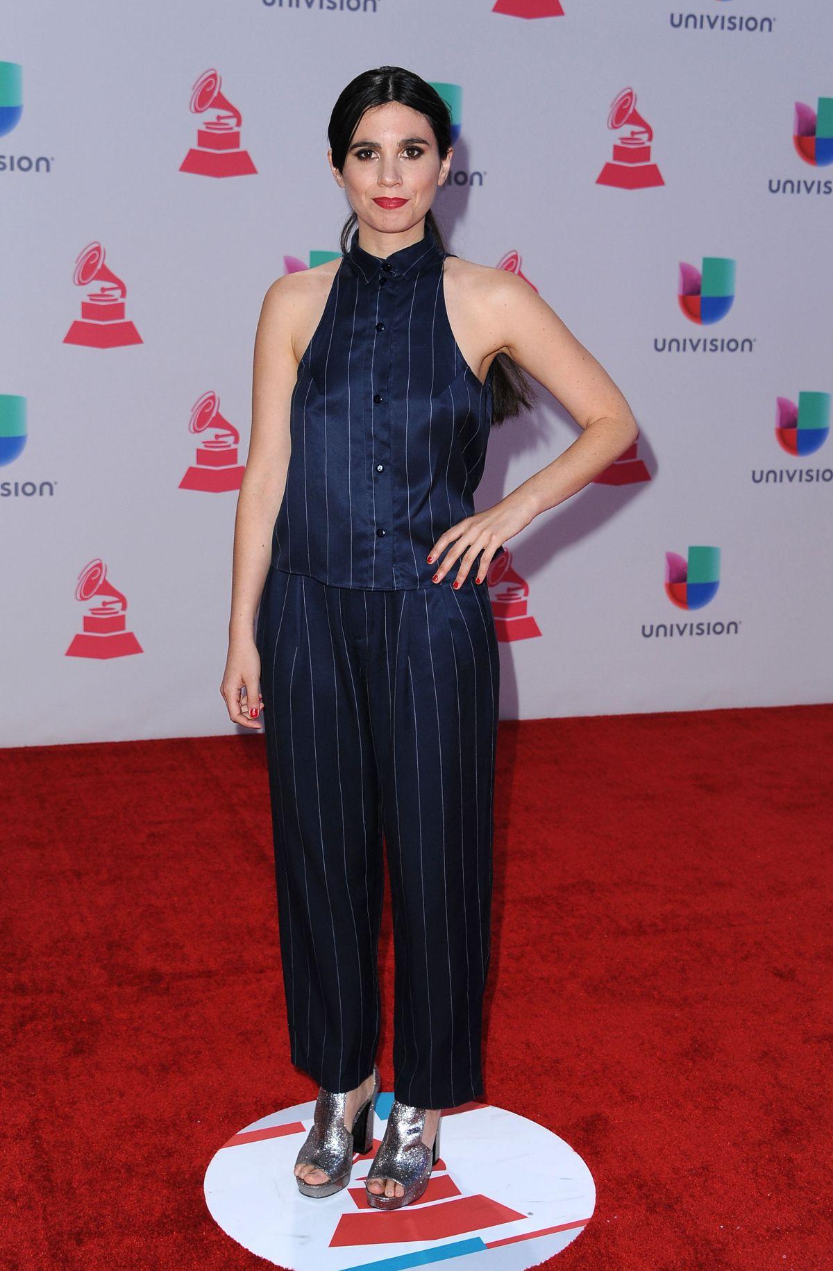 JAVIERA MENA at 2015 Latin Grammy Awards in Las Vegas 11/18/2015