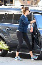 JENNIFER GARNER Arrives at a Gym in Brentwood 11/12/2015