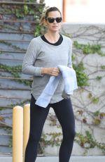 JENNIFER GARNER in Tights at a Gym in Hollywood 10/31/2015